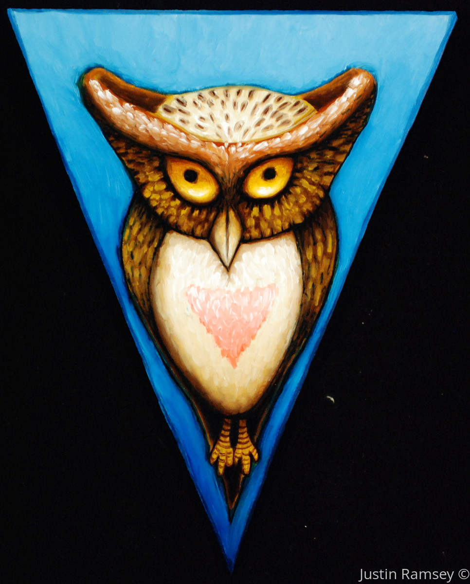 Pink Triangle Owl (large view)