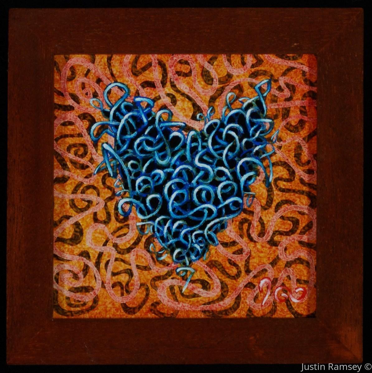 Blue Ribbon Heart (large view)
