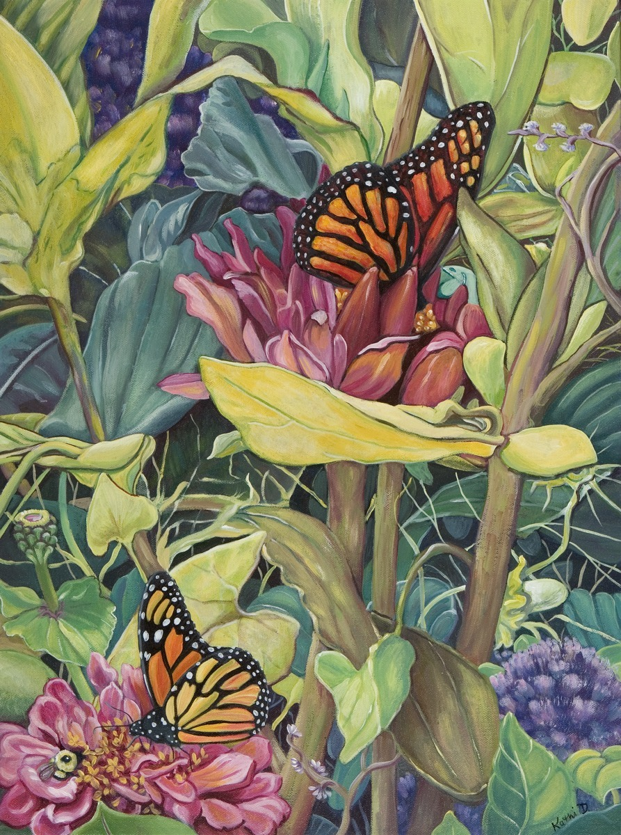 Butterfly Garden by Kathi Dugan (large view)