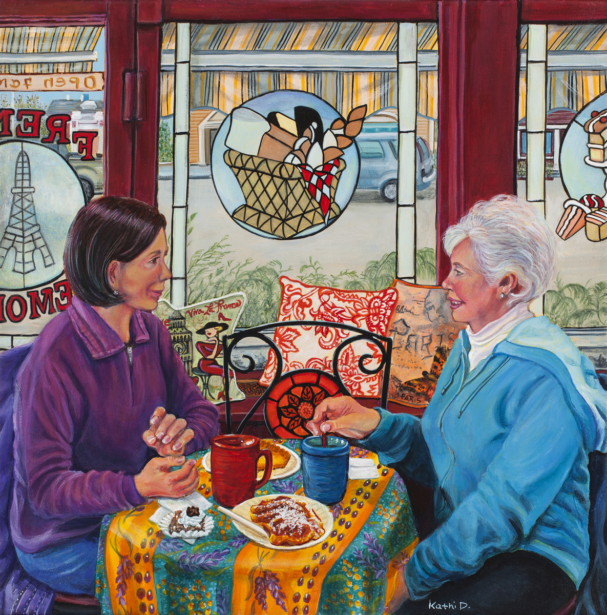 Friendship Over Coffee by Kathi Dugan (large view)