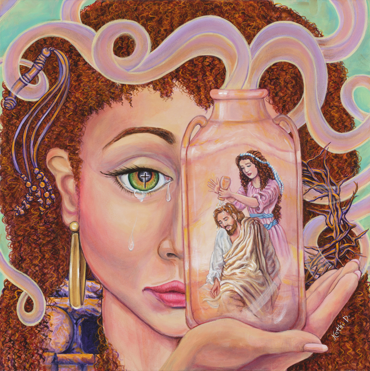 The Woman Of Faith Mark 14: 1-9 by Kathi Dugan (large view)