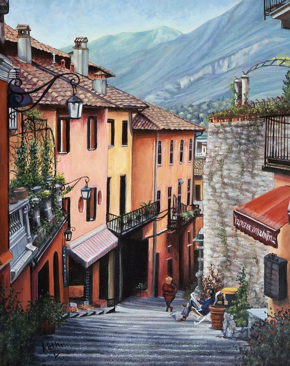 Streets Of Bellagio by Kathi Dugan (large view)