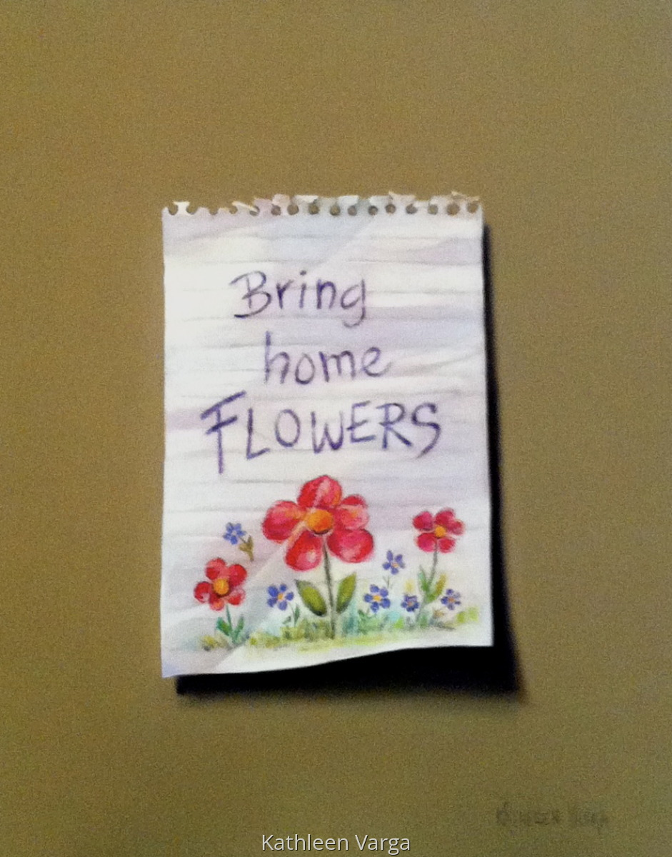 """""""BRING HOME FLOWERS"""" (large view)"""