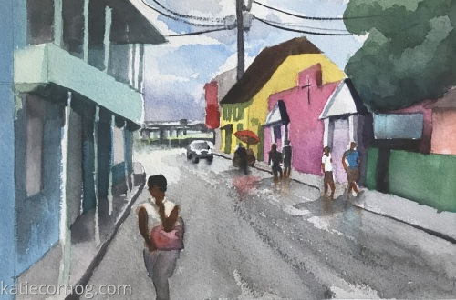Rainy Day in Speightstown, Barbados (large view)