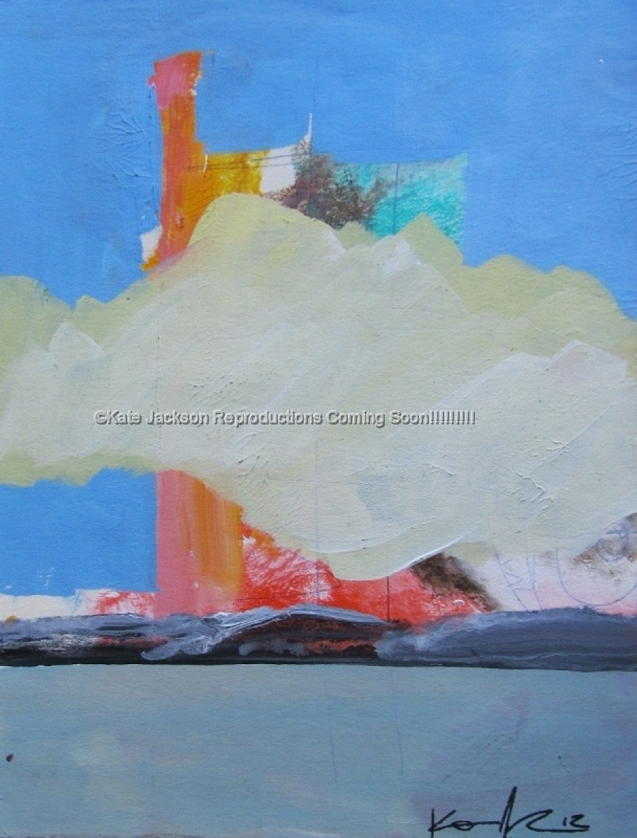 """""""Buildings Covered With Clouds"""" (large view)"""