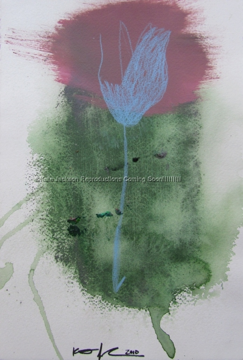 """""""Blue Flower"""" 2010 (large view)"""