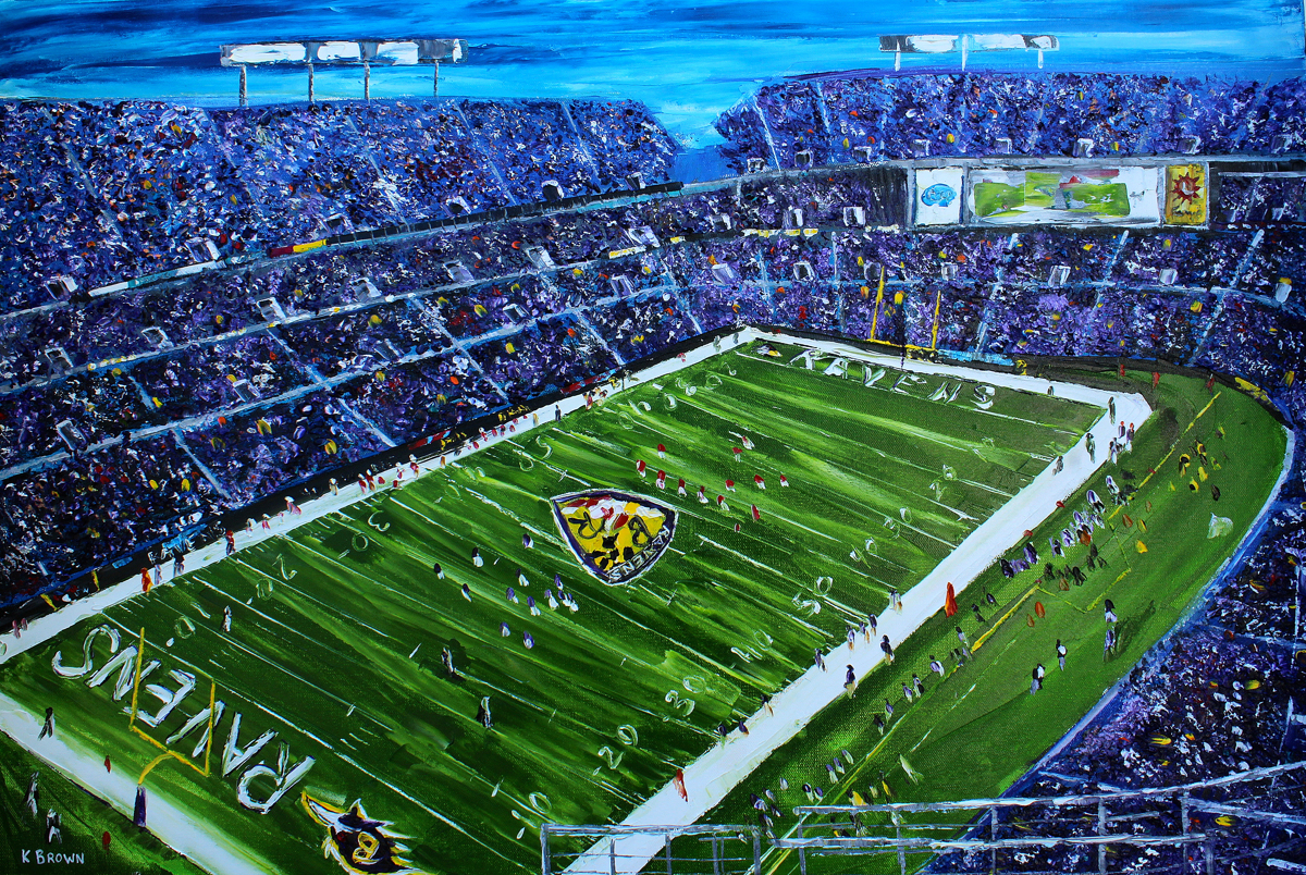Ravens Stadium- SOLD (Prints Available) (large view)