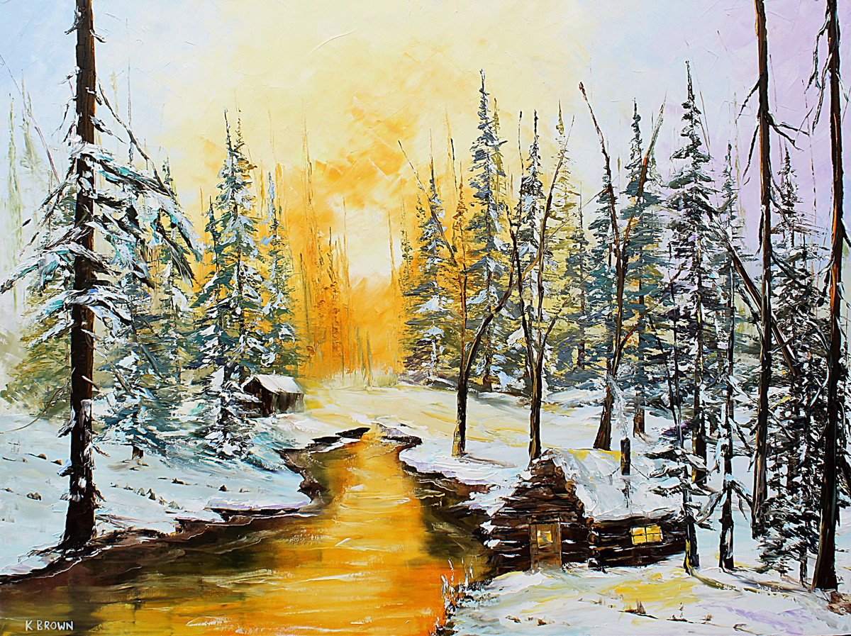 Golden Winter- SOLD (Prints Available) (large view)