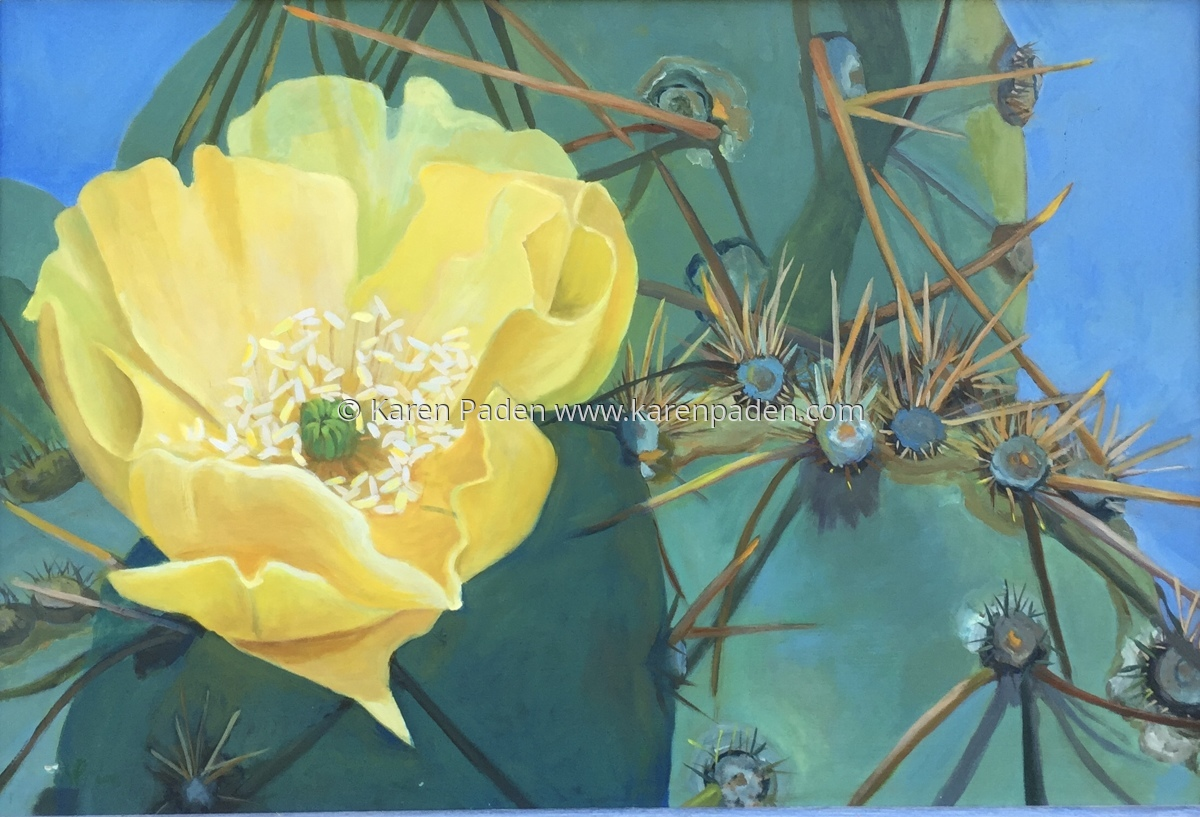 """""""Cactus Flowers and Thorns"""" (large view)"""