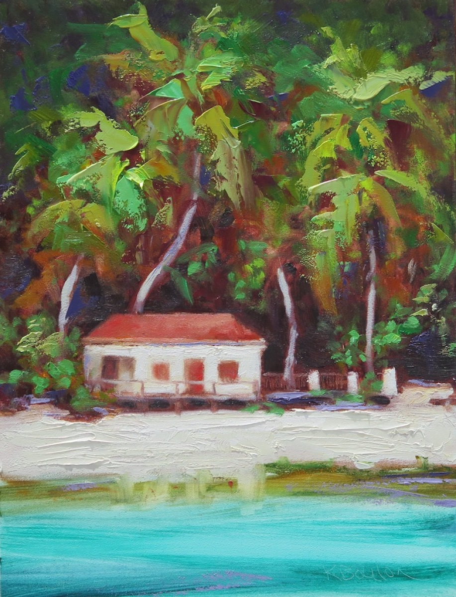 Maho Bay Birch House in Red and Green (large view)