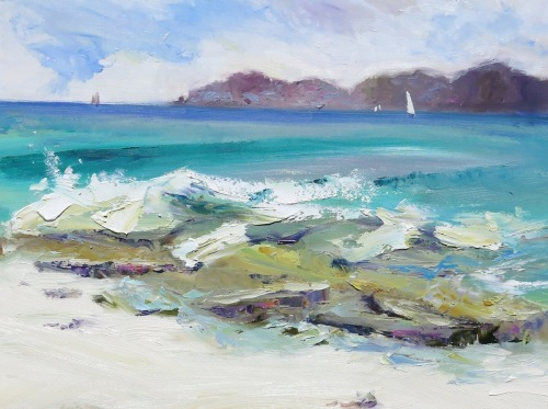 Surf's Up: Windswept Beach To Jost Van Dyke (large view)