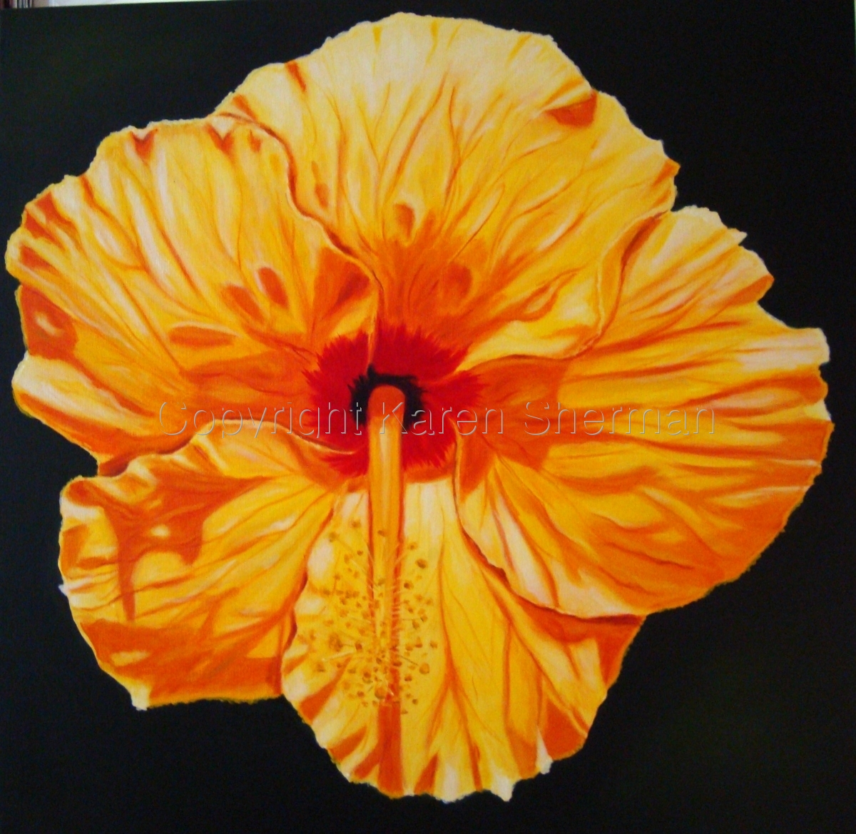 """""""Yellow Hibiscus 1"""" (large view)"""