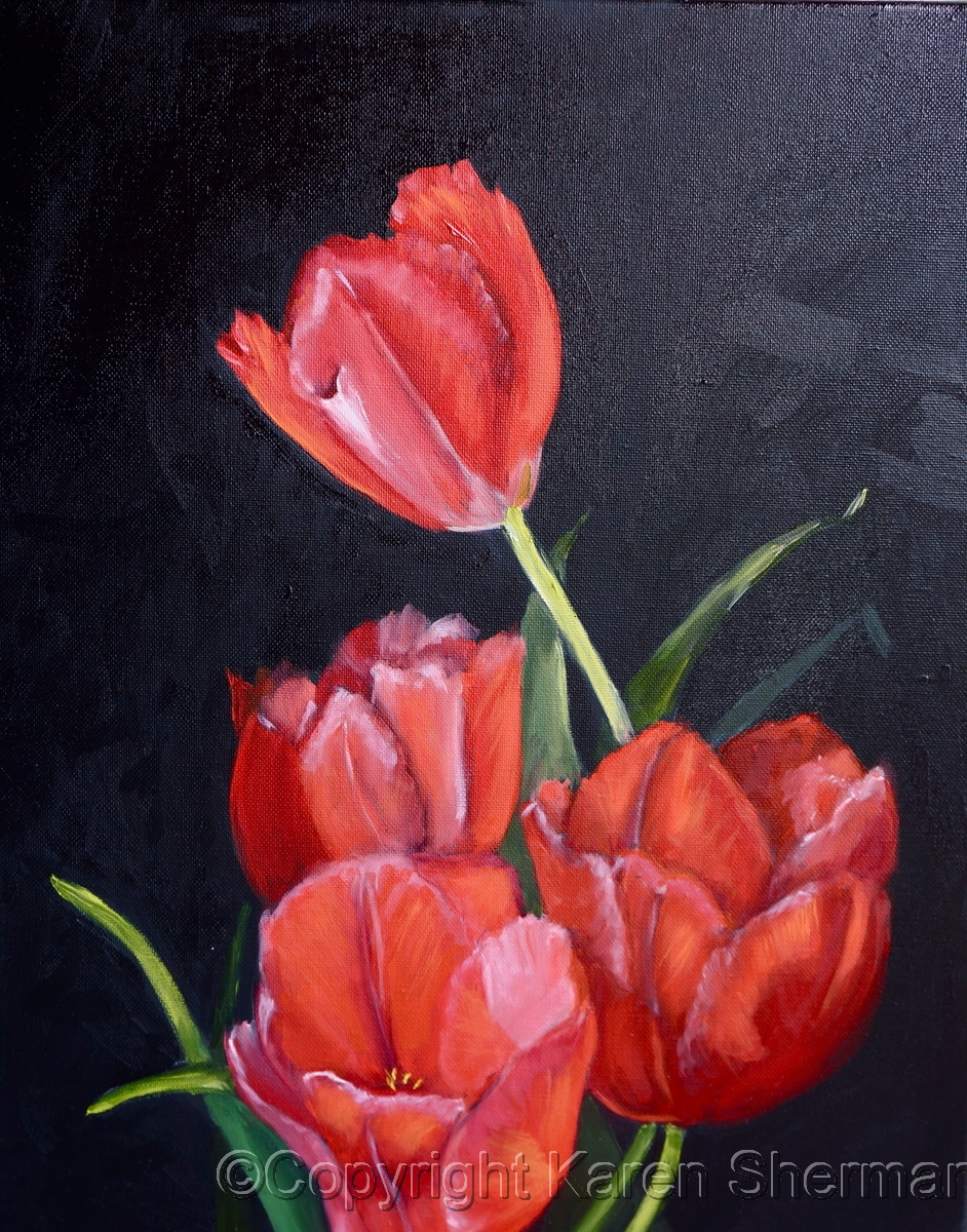 """Tulip Bunch"" (large view)"
