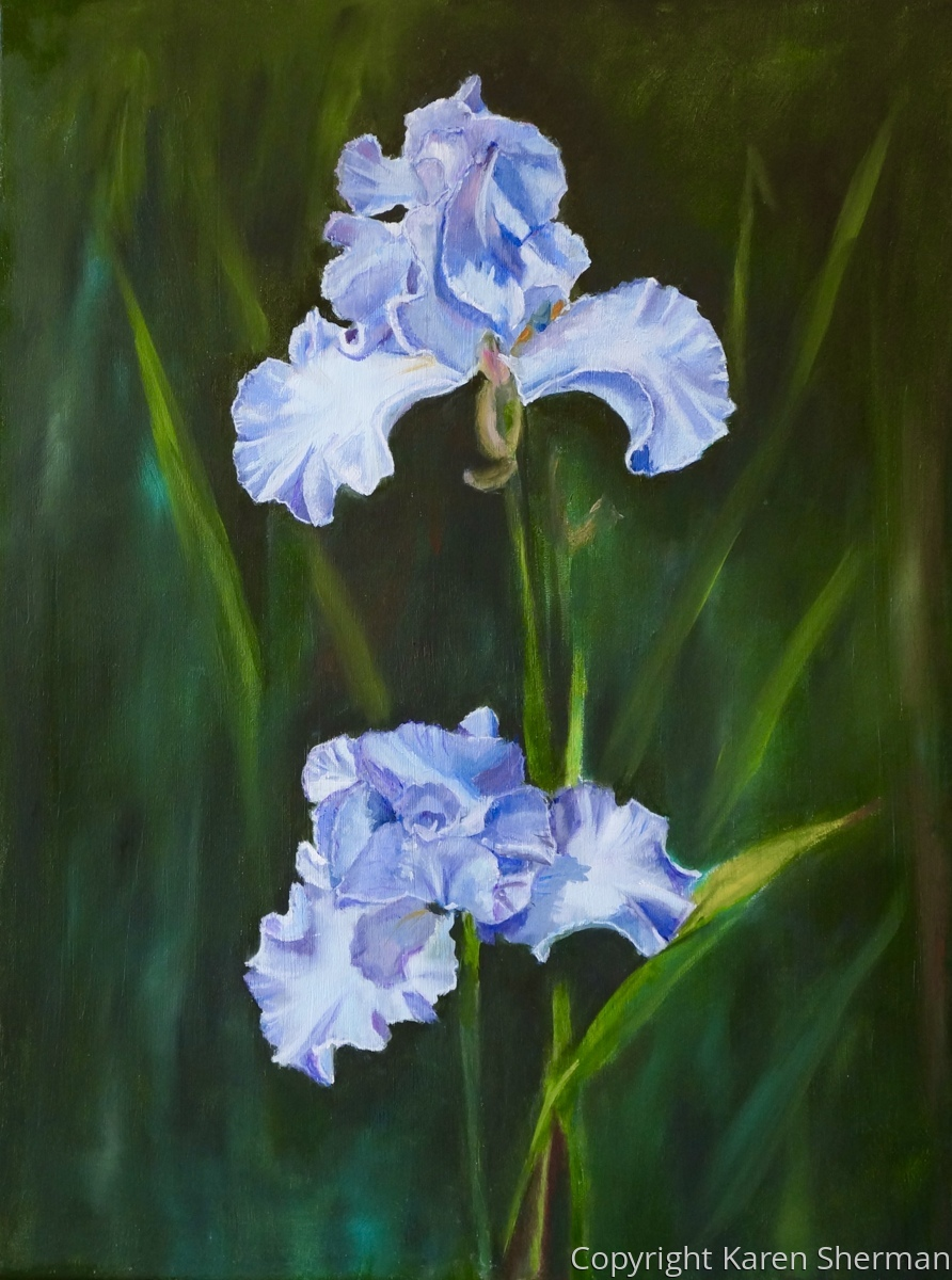 """Two Iris Blooms"" (large view)"