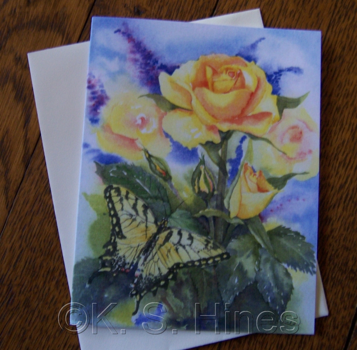 """""""Roses for a Friend"""" note cards (large view)"""