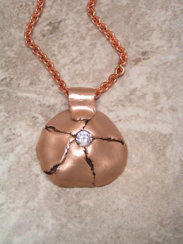 'Torn' Pink Bronze Pendant