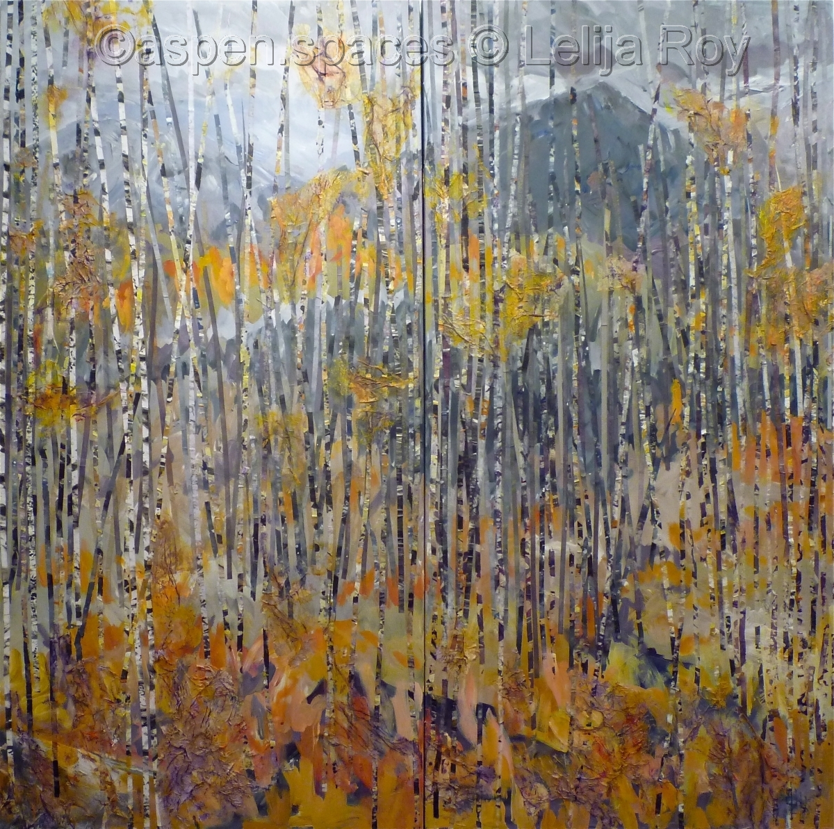Waiting for Winter 48x48 (diptych) (c) Lelija Roy (large view)