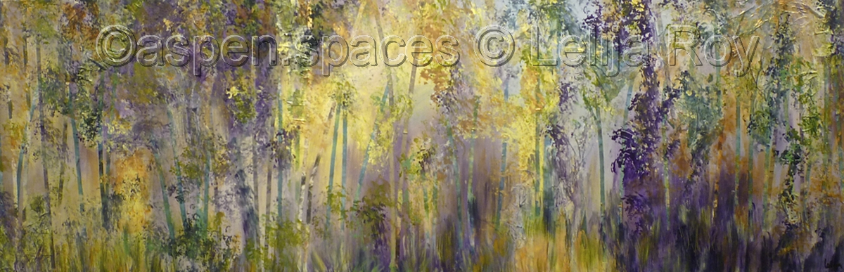 Spring Shadows 20x60 © Lelija Roy (large view)