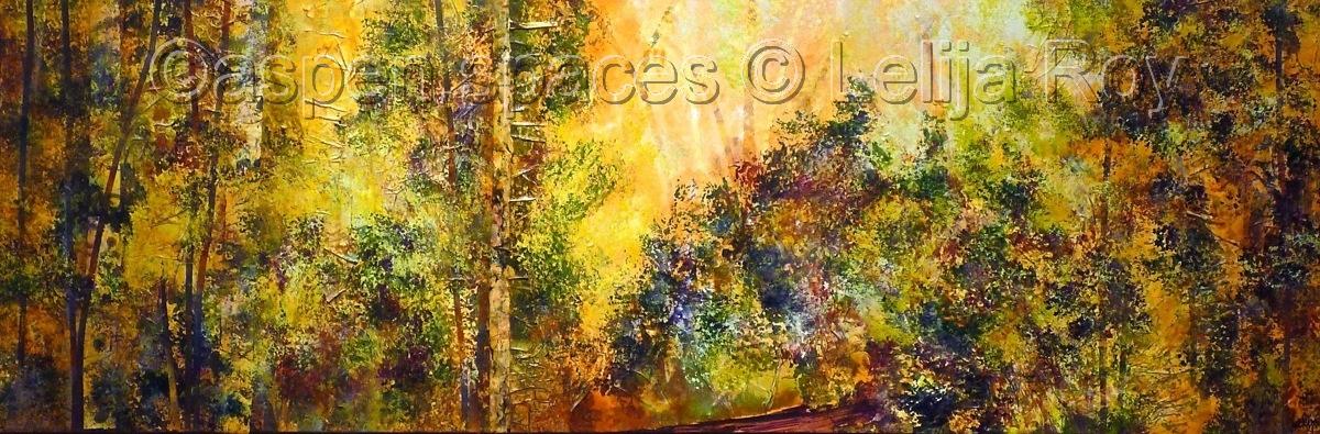Enchanted Forest 20x60 © Lelija Roy (large view)