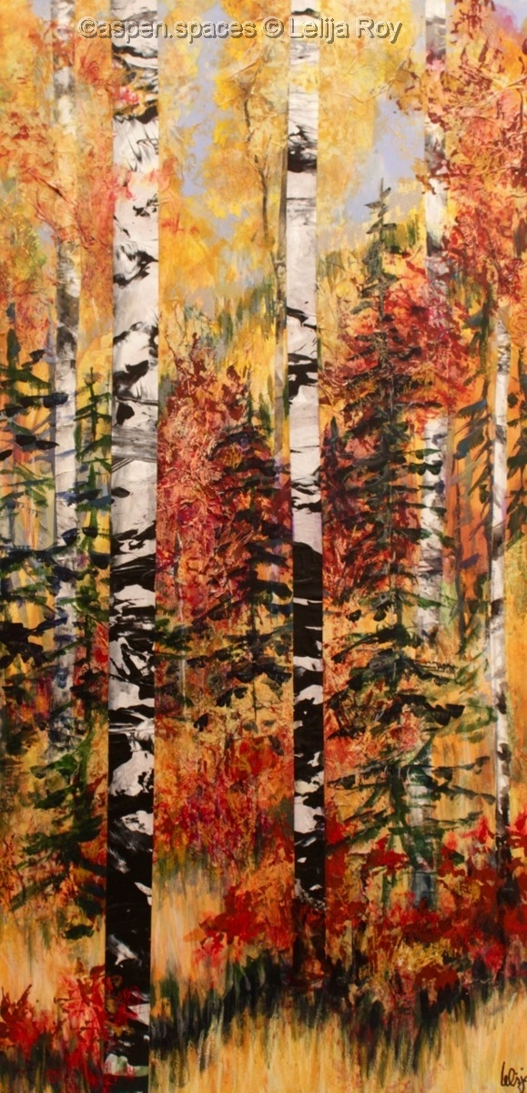 """Autumn Pathway 36x18"""" (large view)"""
