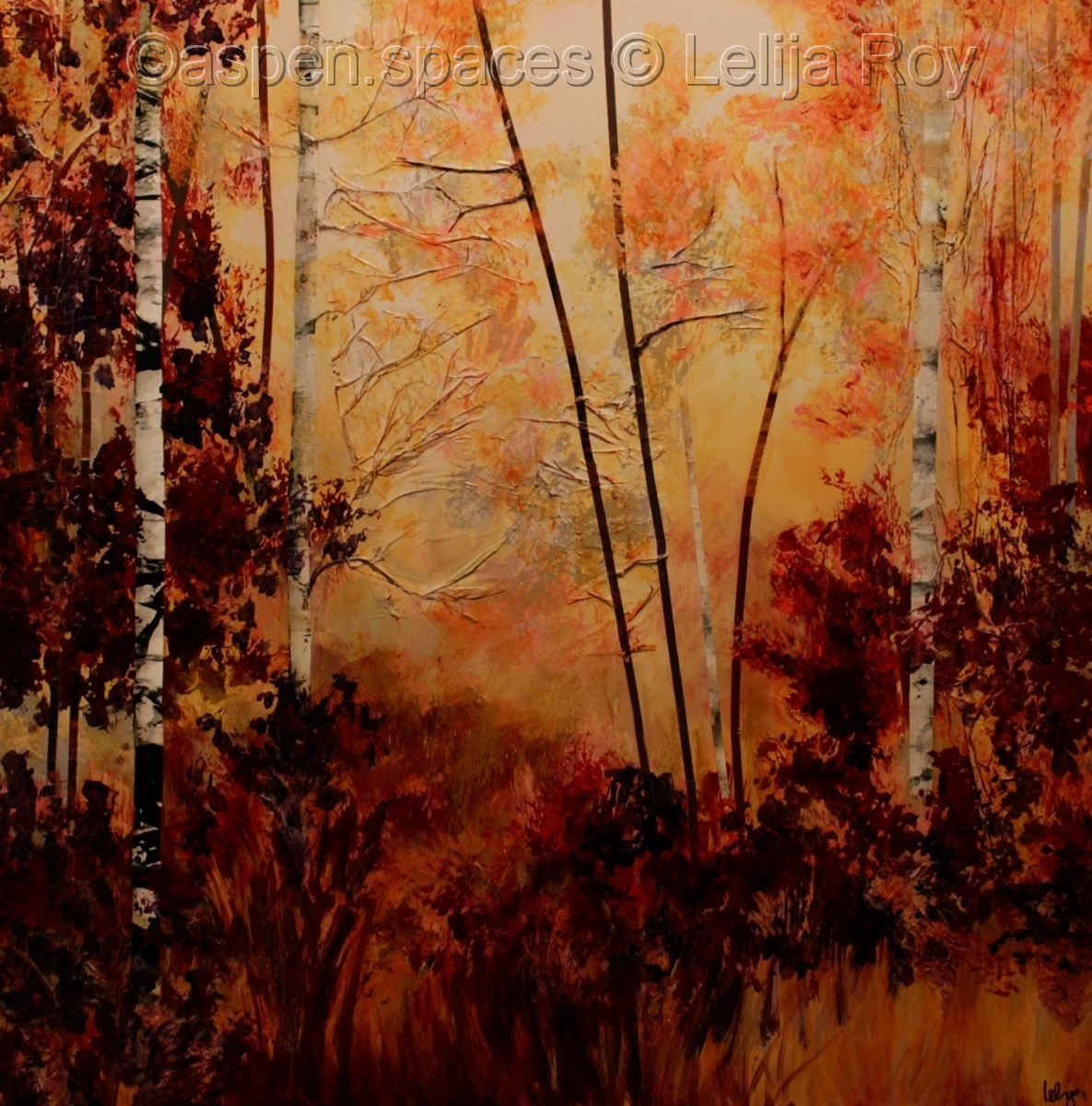 End of the Gold 36x36 (c) Lelija Roy (large view)