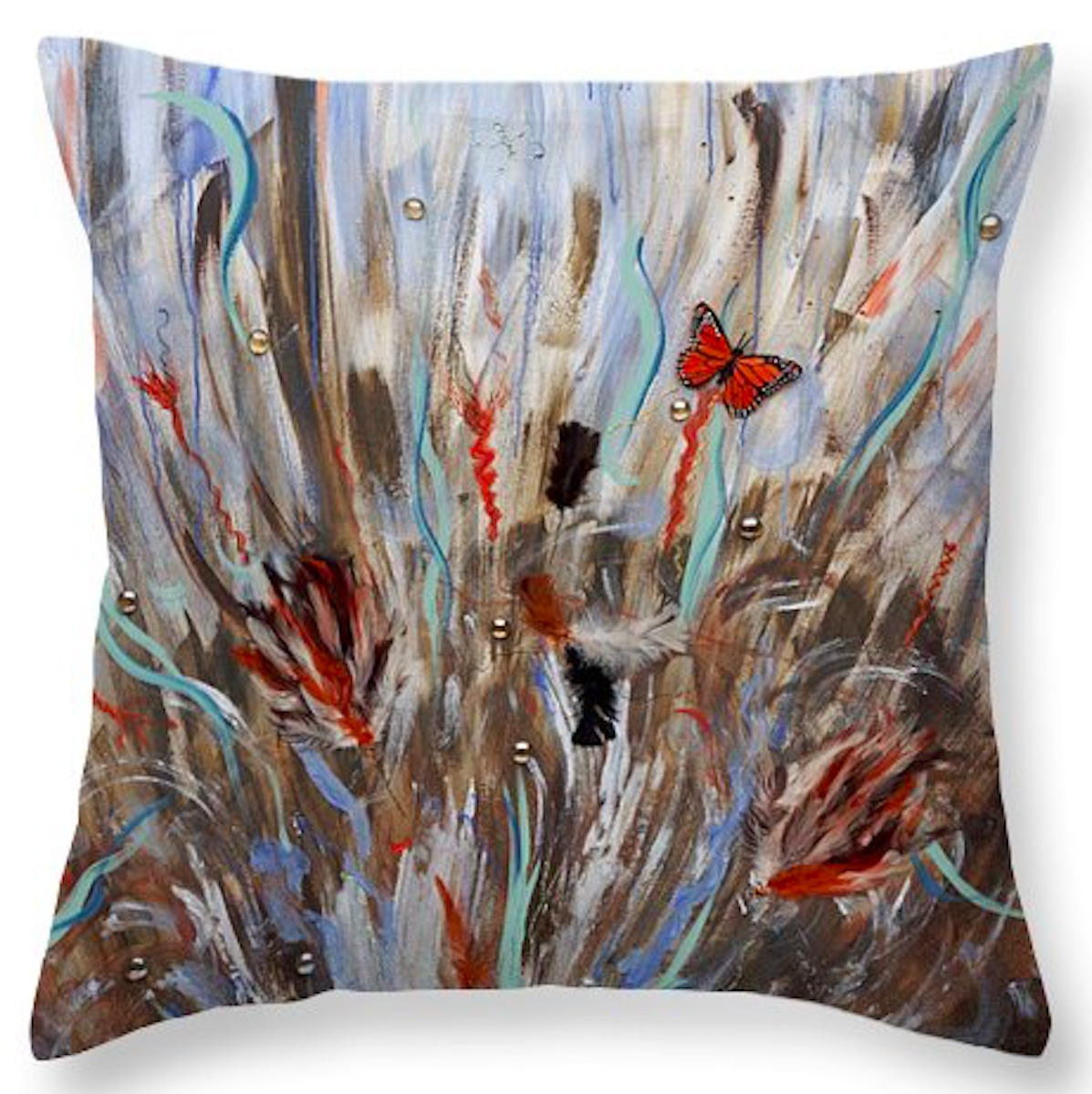 Playing with Fear - Throw Pillow (26x26) (large view)