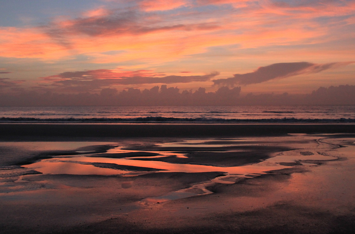 Red Sunrise on Amelia Island  (large view)