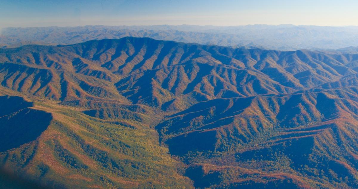 Fall Blaze in Smoky Mountaiins  (large view)