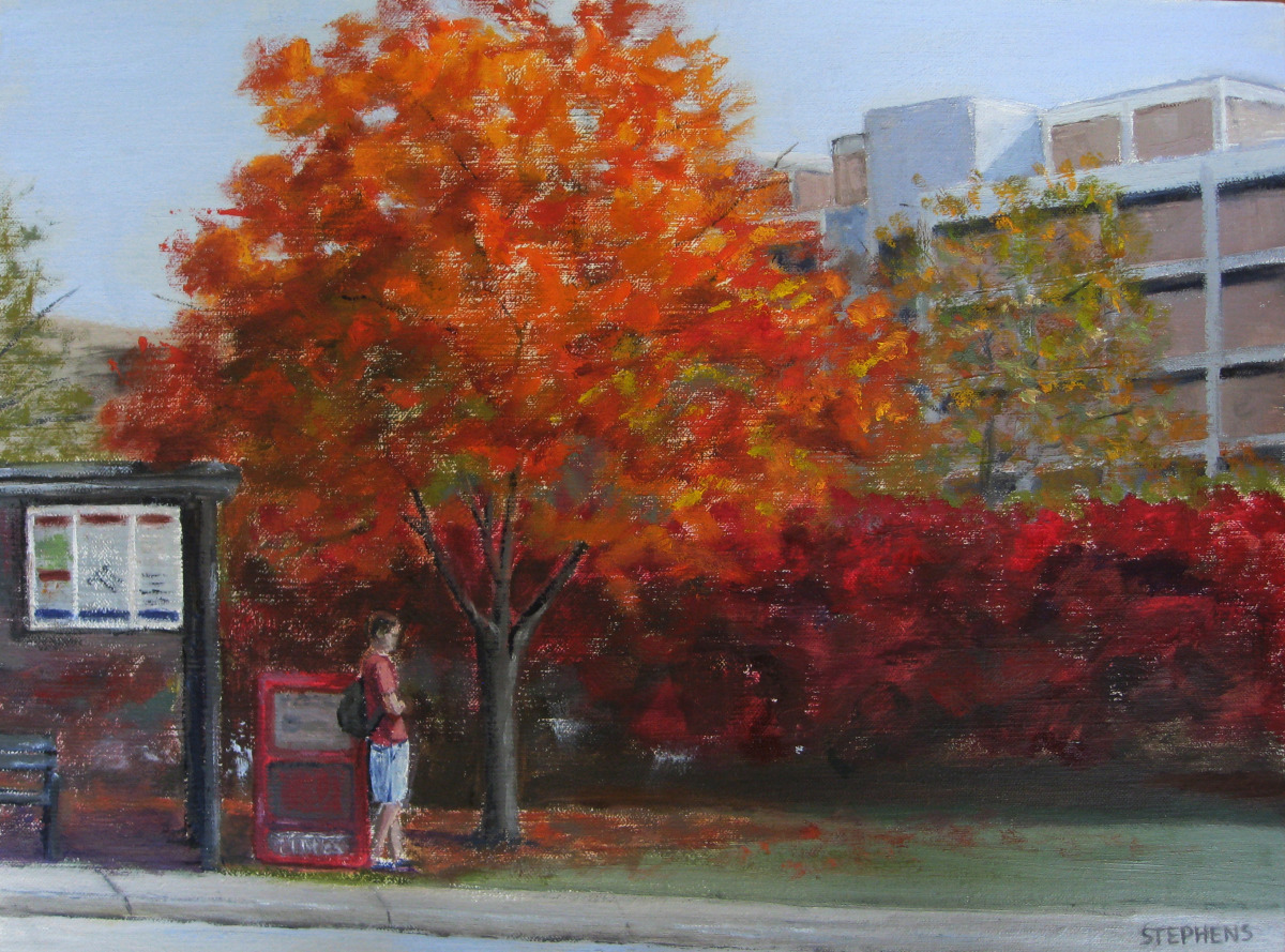 Fall painting of the Virginia Tech campus (large view)