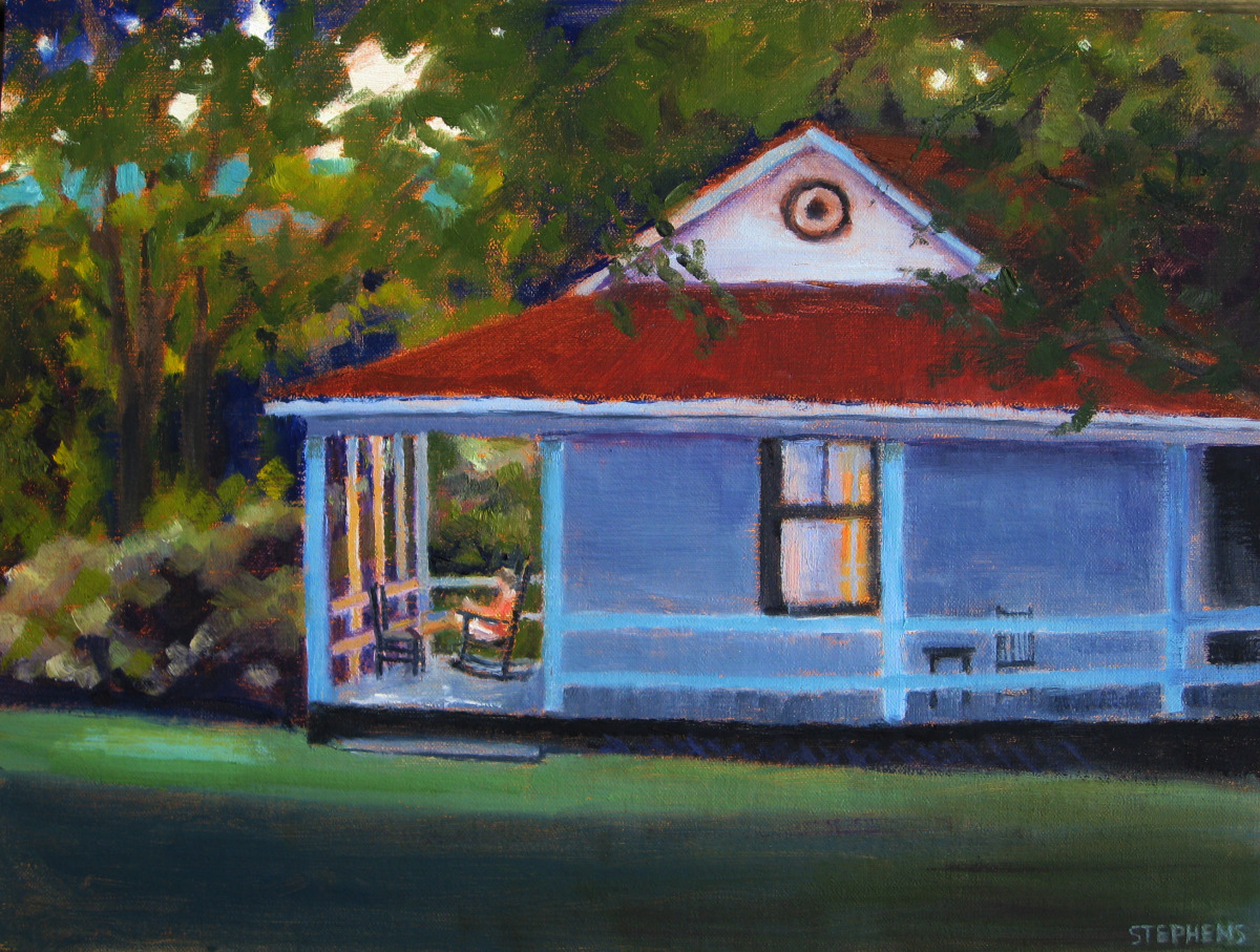 Summer painting of cabin in Bath Co., Va. (large view)