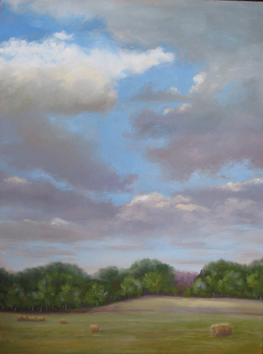 Painting of sky in early morning (large view)