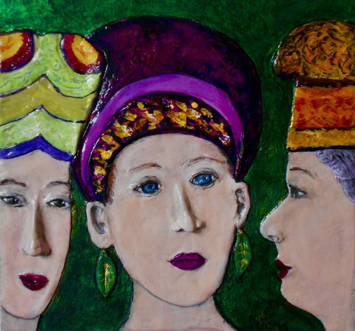 Three Ladies in Hats (large view)