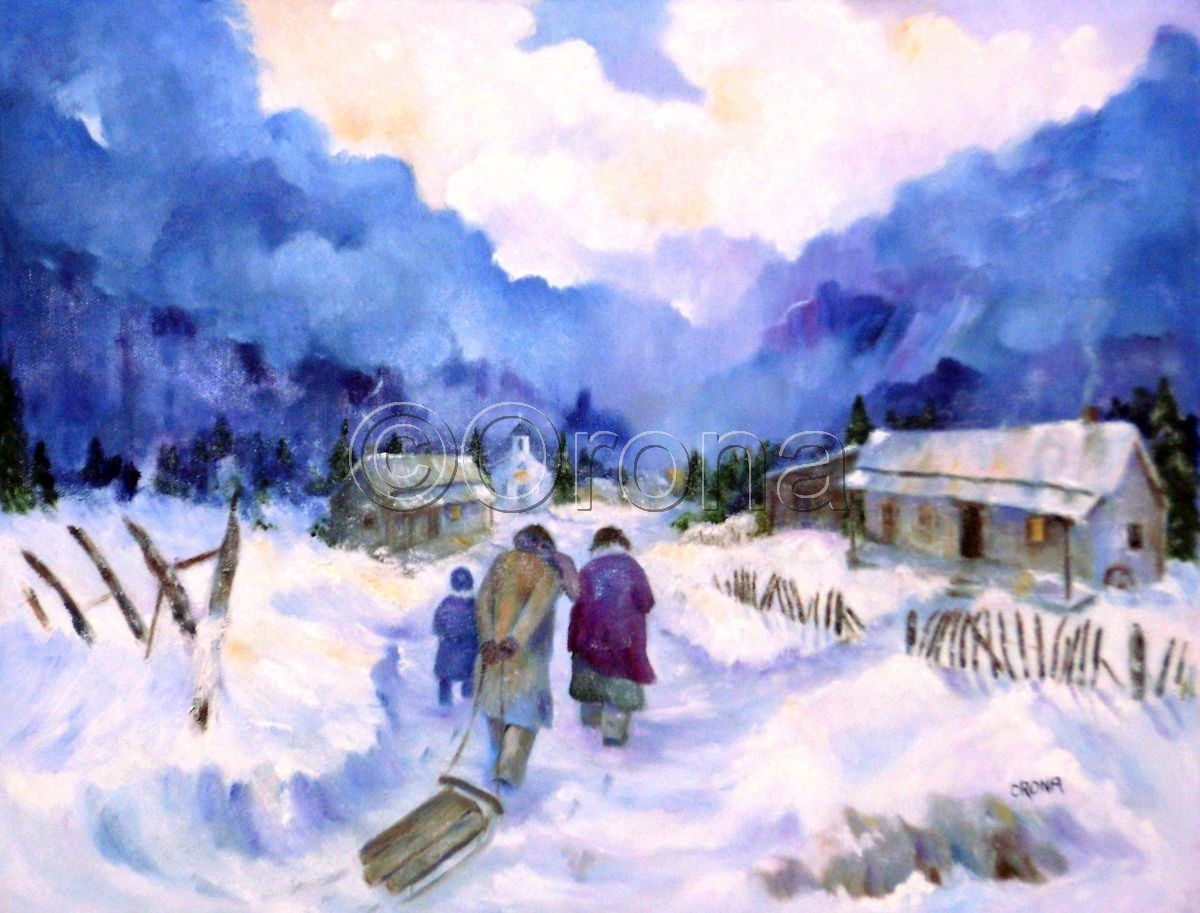 """Winter Walk"" (large view)"