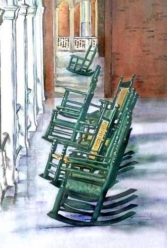 Hollins University Rocking Chairs (large view)