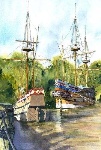 Jamestown Ships (large view)