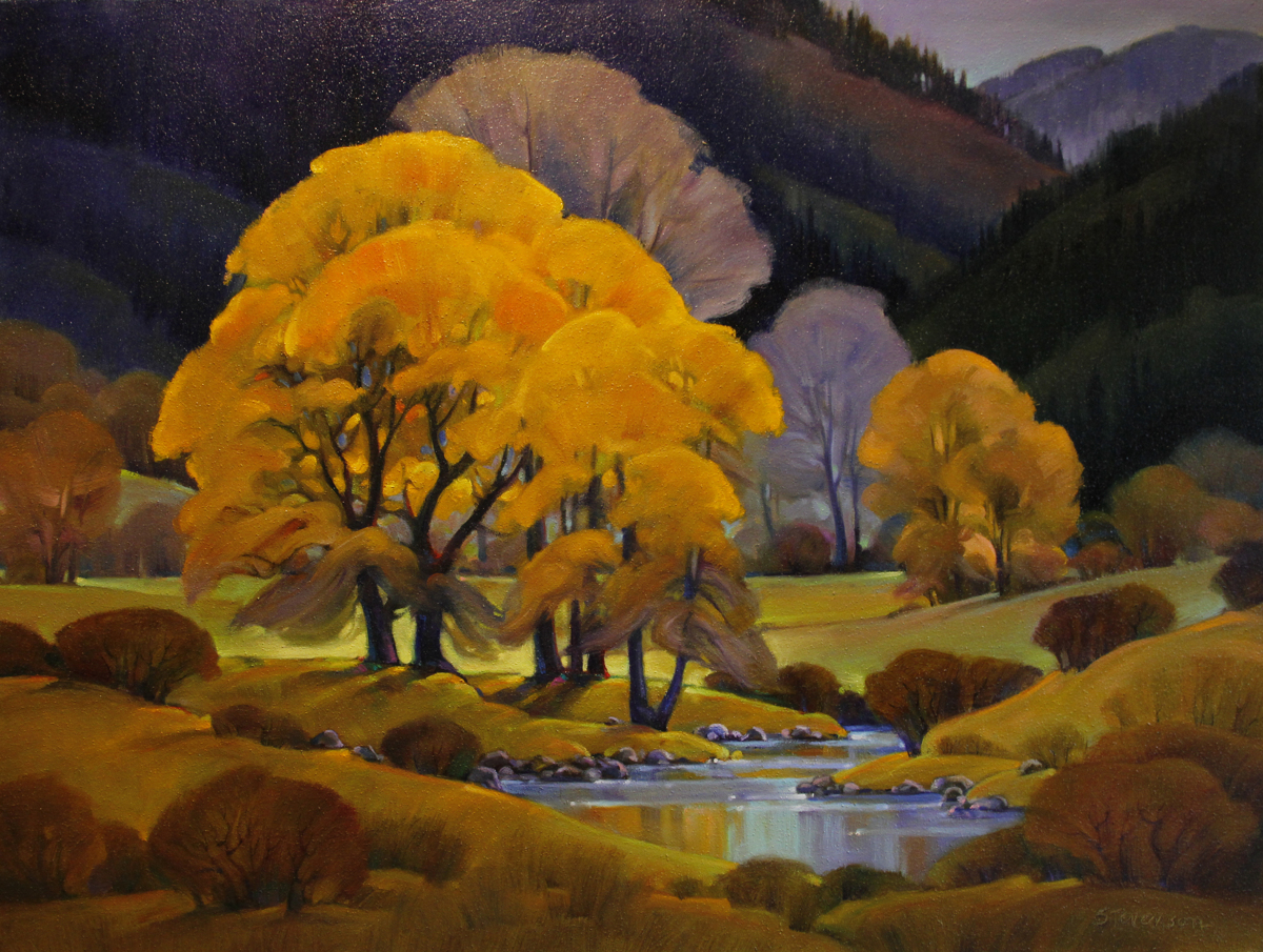 Cottonwood by Wolf Creek (large view)