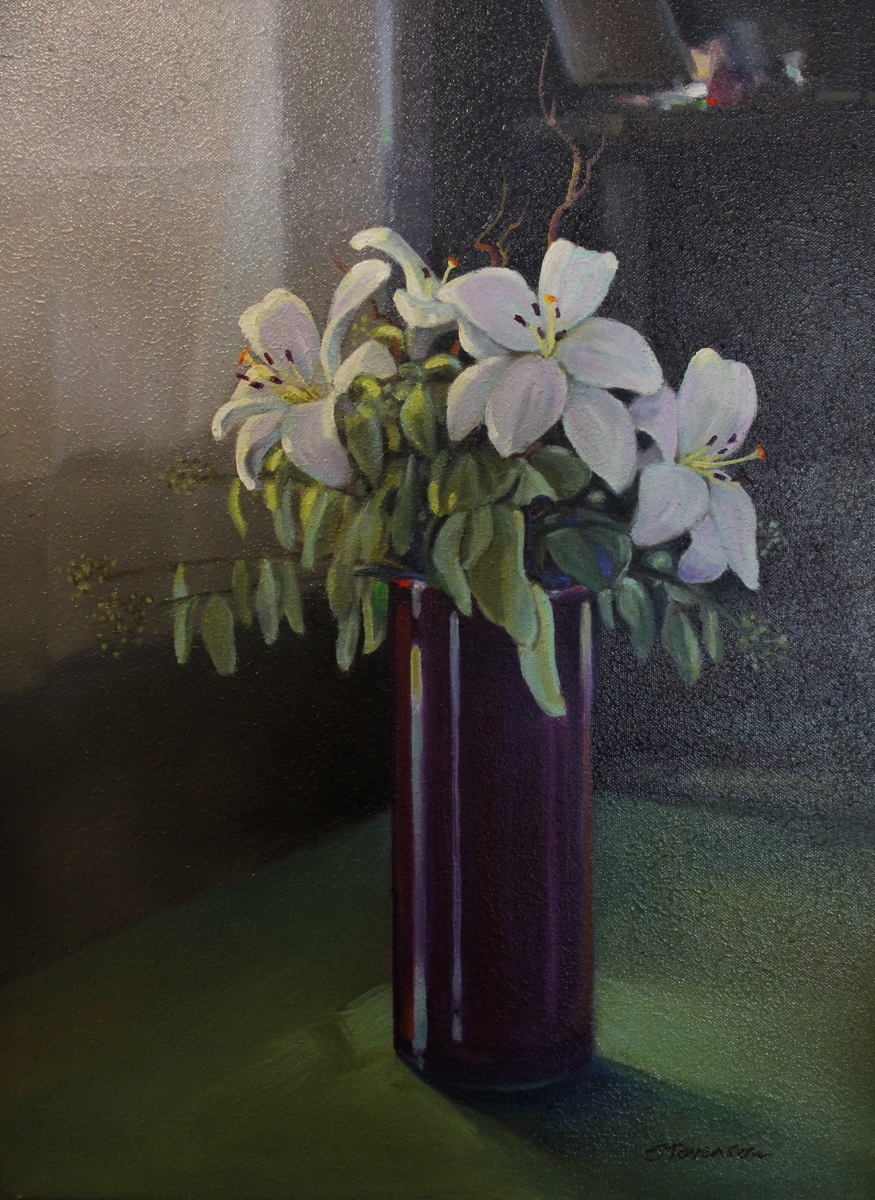 Lilies by the Window (large view)