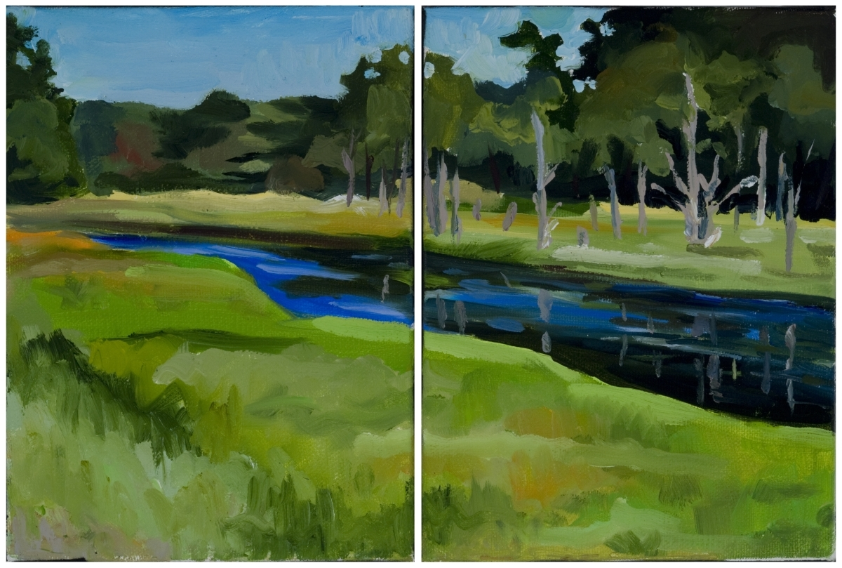 Scarborough Marsh Diptych (large view)