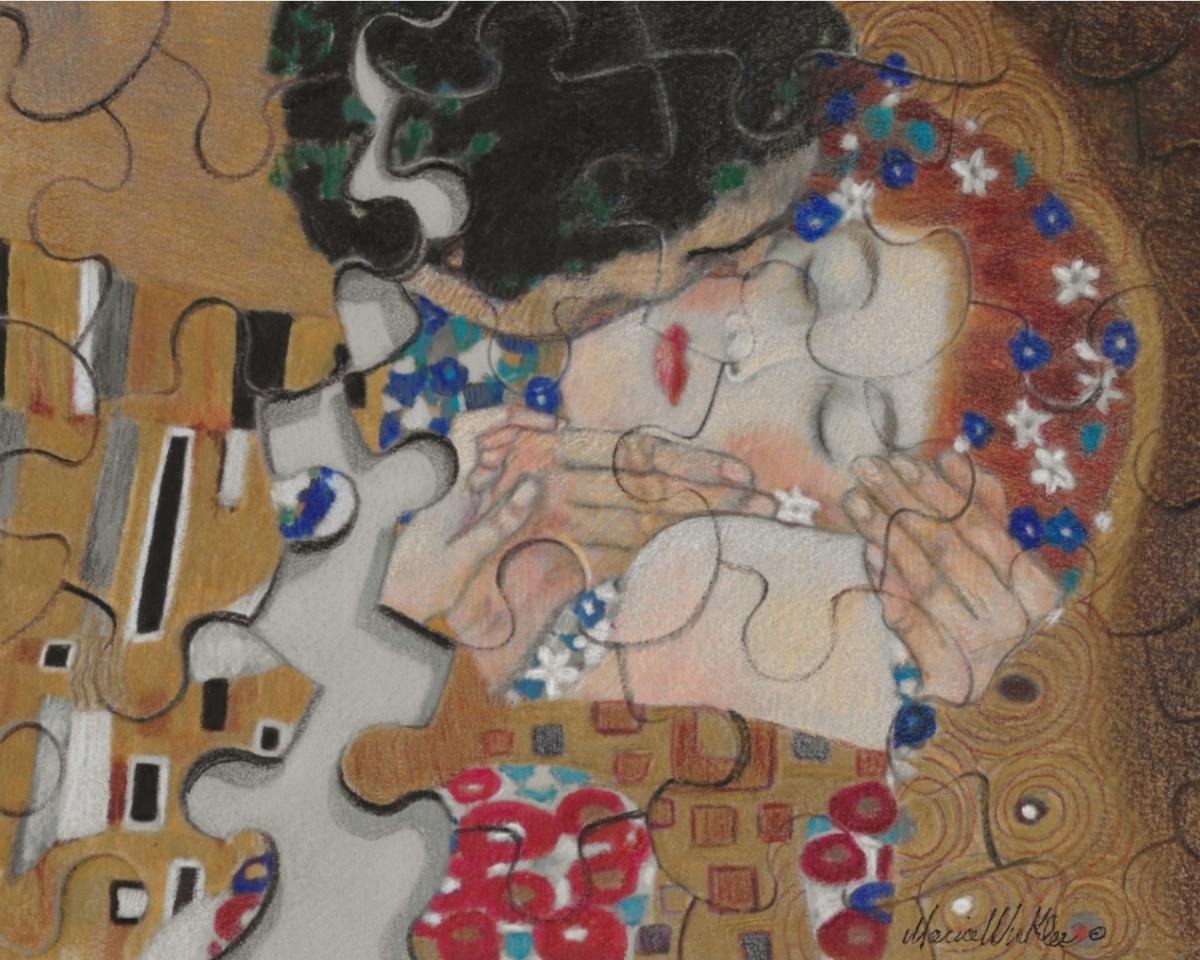 The Kiss (After Klimt) (large view)