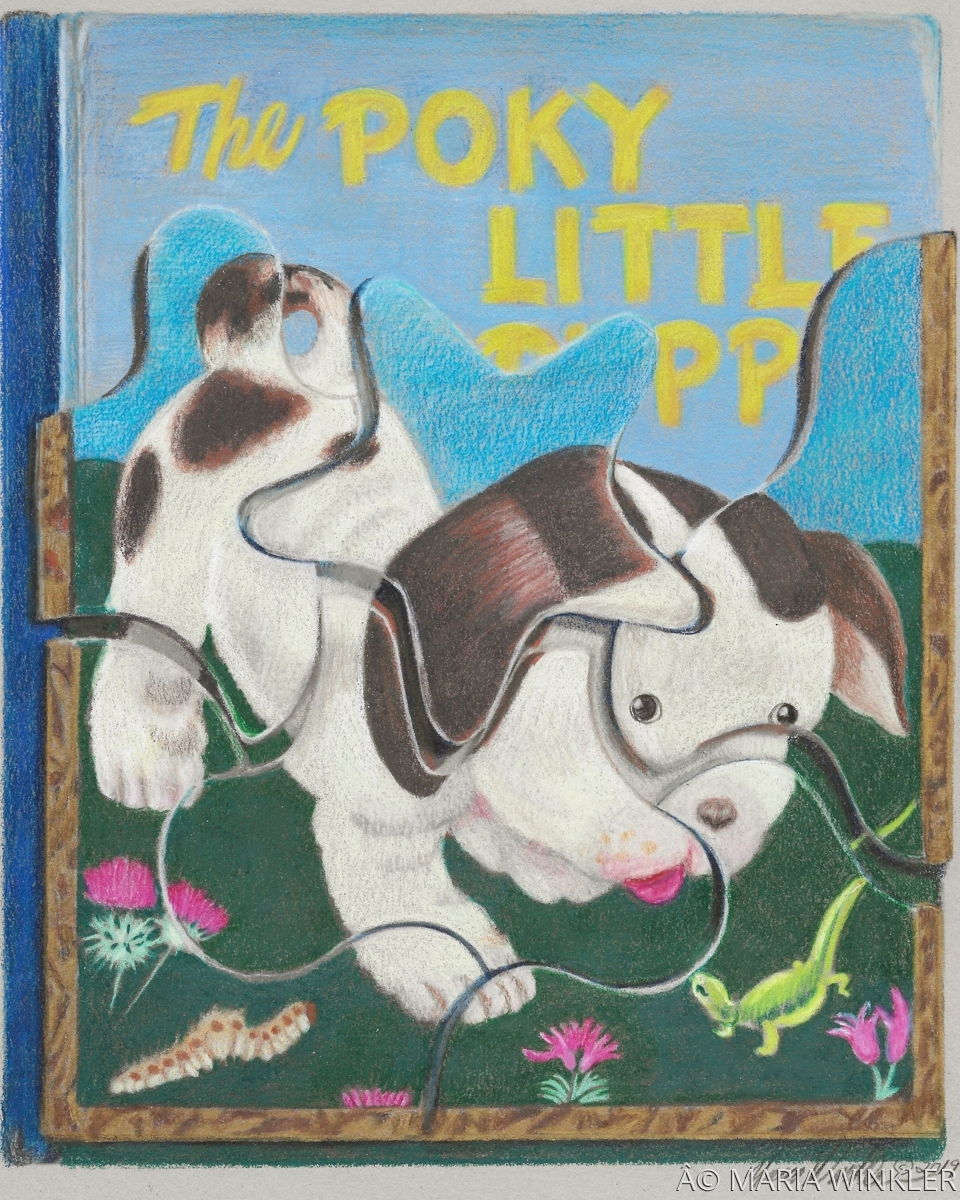 The Poky Little Puppy Book/Puzzle (large view)