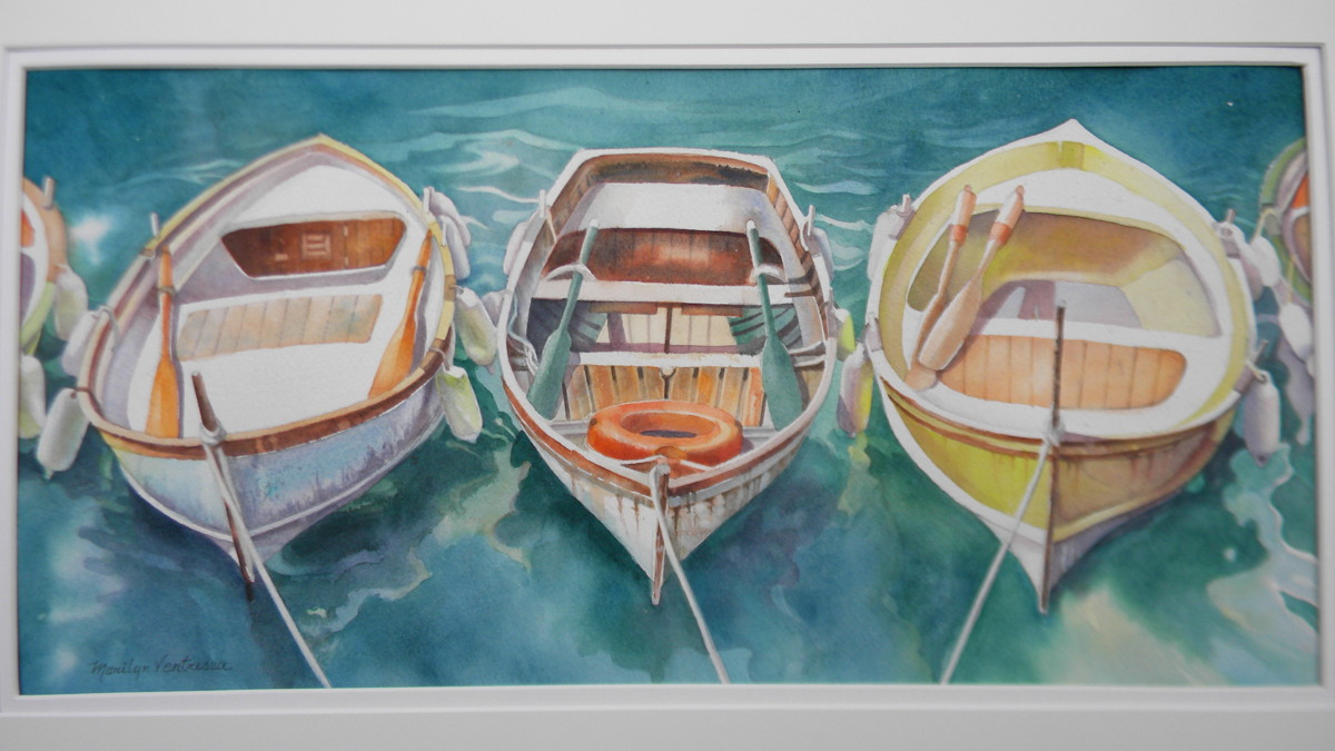 """""""Three Boats in Cinque Terre"""" (large view)"""