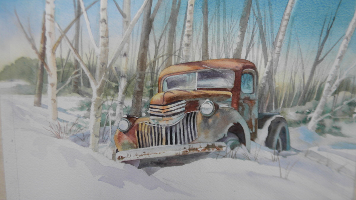"""A Chevy Hibernates Among the Birches""""  (large view)"""