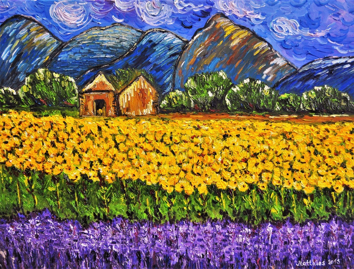 Sunflower and Lavender Field       (large view)