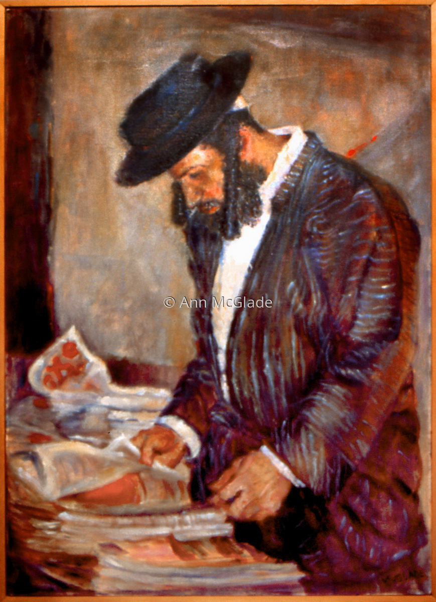 Rabbi with Newspaper (large view)