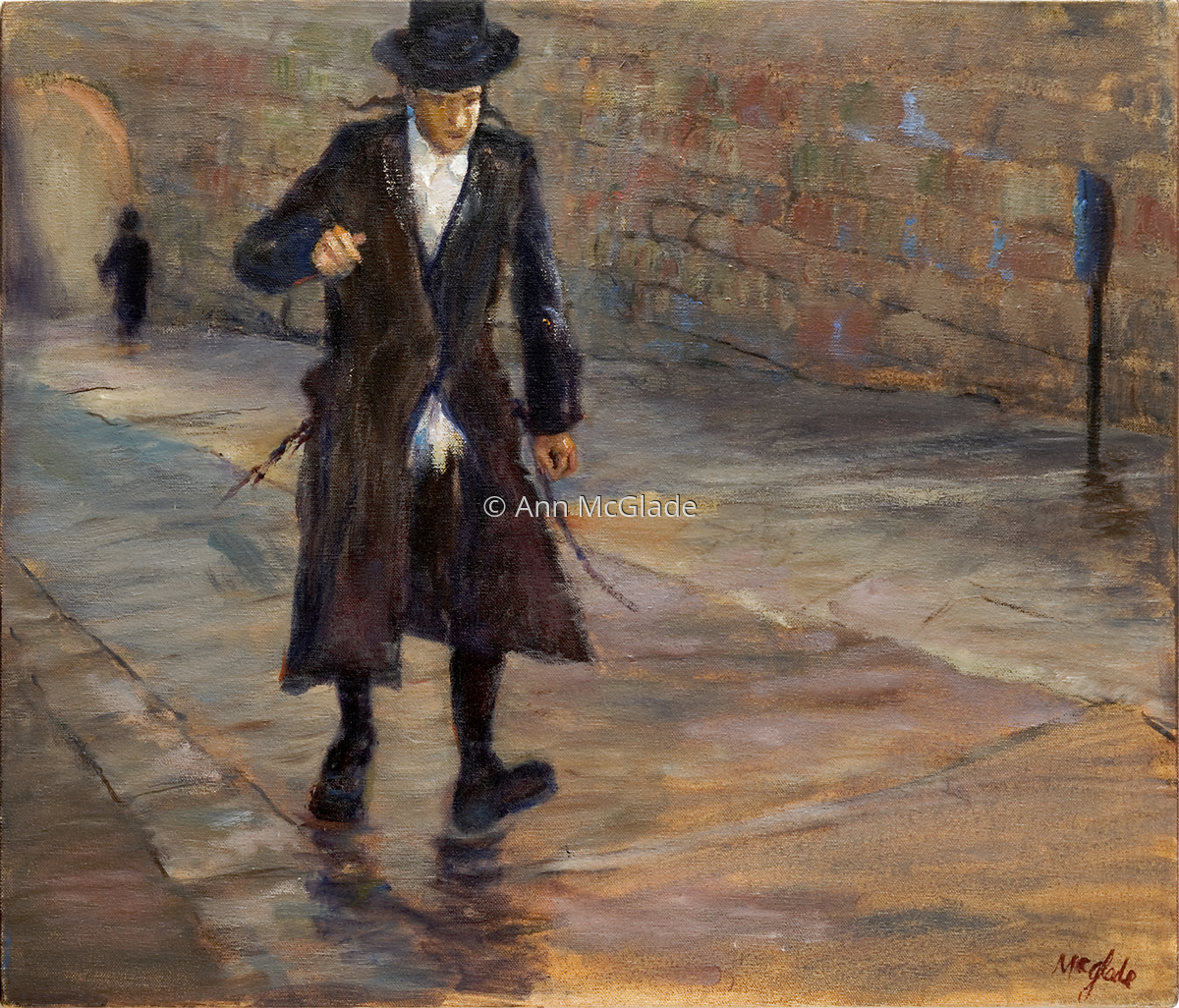 Rabbi Walking (large view)