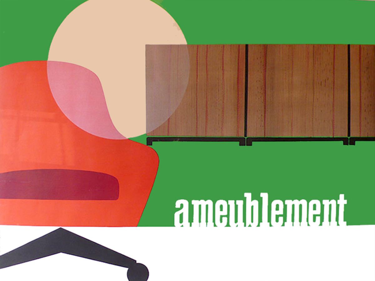 Mid Century Modern Furniture   1960's  47x63  (large view)