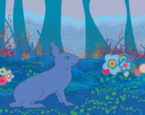 Benjamina the Blue Bunny (large view)