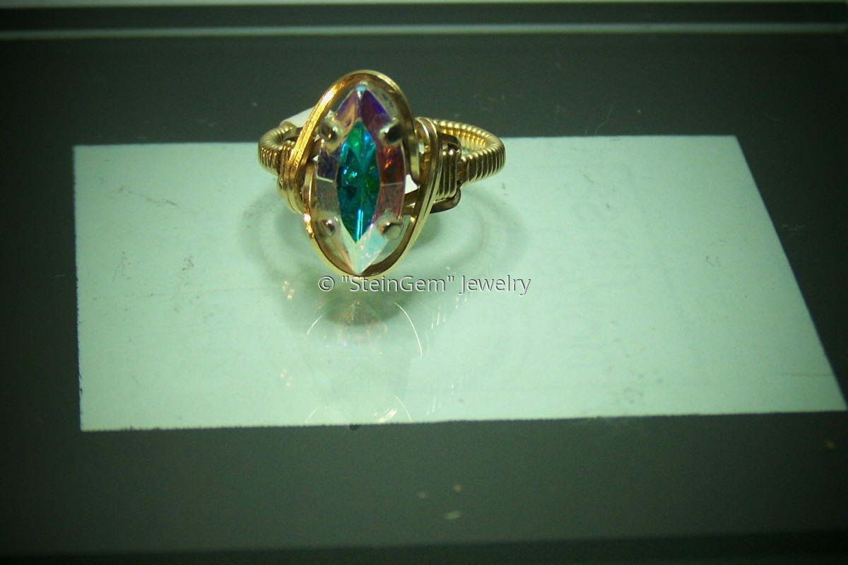 Marquise Crystal Ring (large view)
