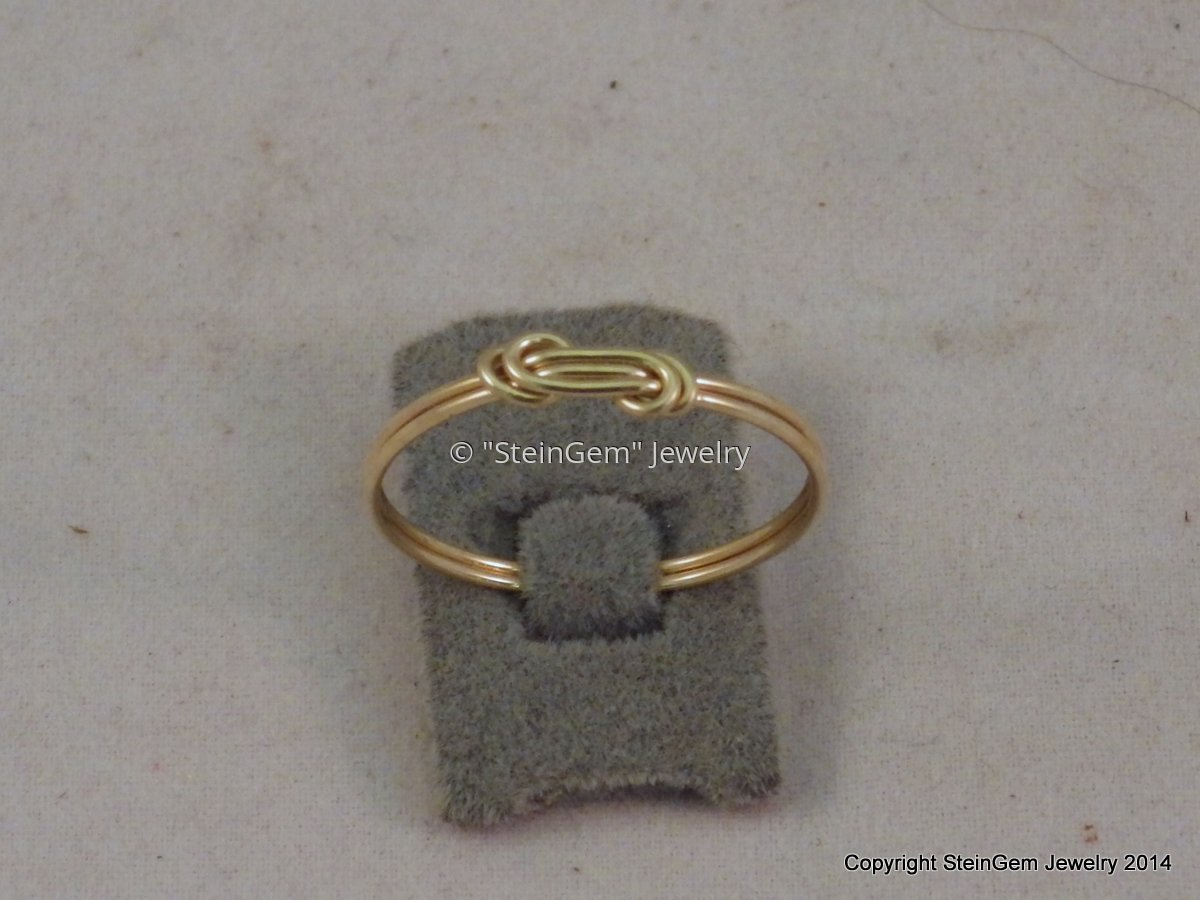 Gold Filled Wire Knot Ring (large view)