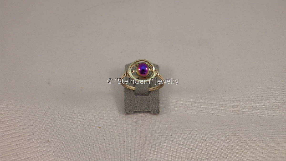 14 Kt Gold Filled Beaded Ring (large view)